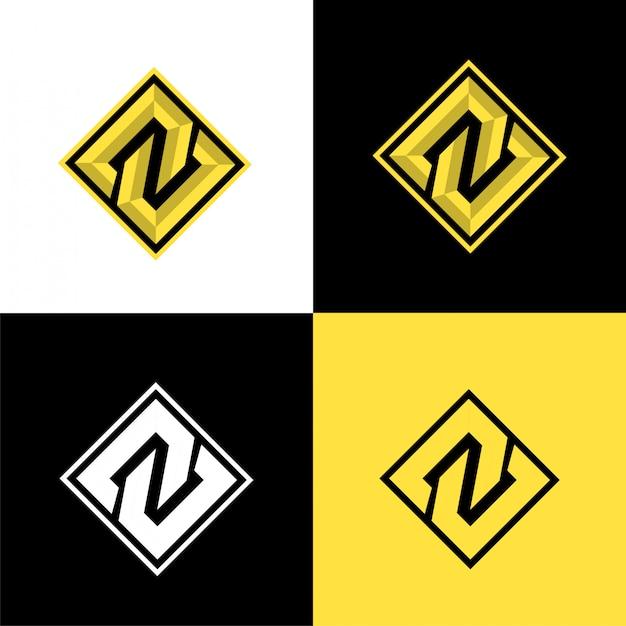 N eerste sport logo sjabloon Premium Vector