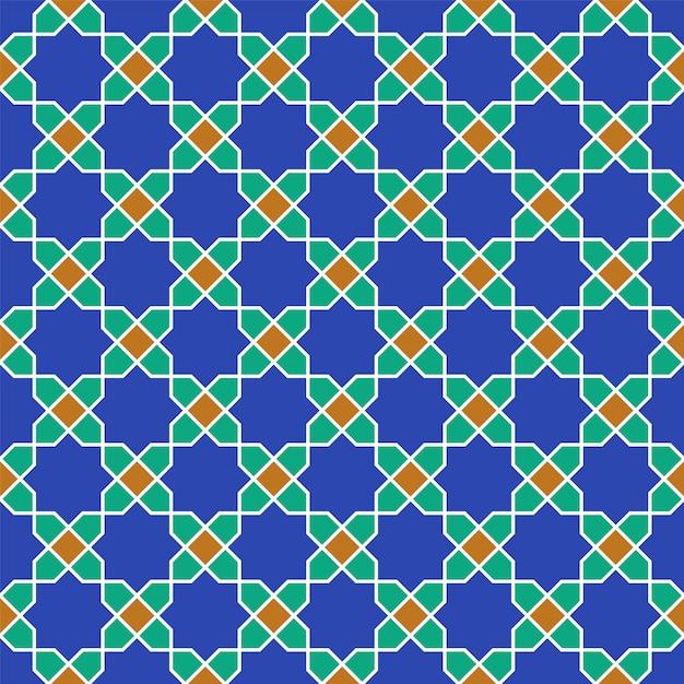 Naadloos arabisch geometrisch ornament dat op traditionele arabische kunst wordt gebaseerd. Premium Vector