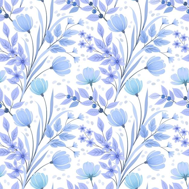 Naadloos bloemenpatroonbehang. Premium Vector