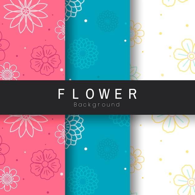 Naadloos bloempatroon Gratis Vector