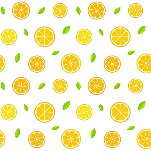 Naadloos citruspatroon Premium Vector