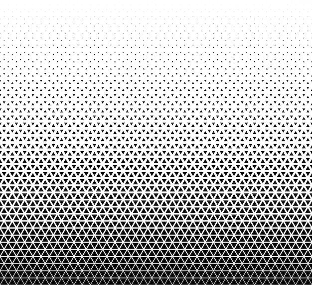 Naadloos geometrisch patroon. zwarte driehoeken op wit. Premium Vector