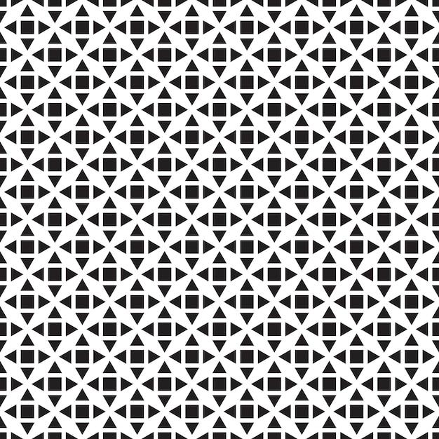 Naadloos geometrisch patroon. zwarte en witte achtergrond Premium Vector