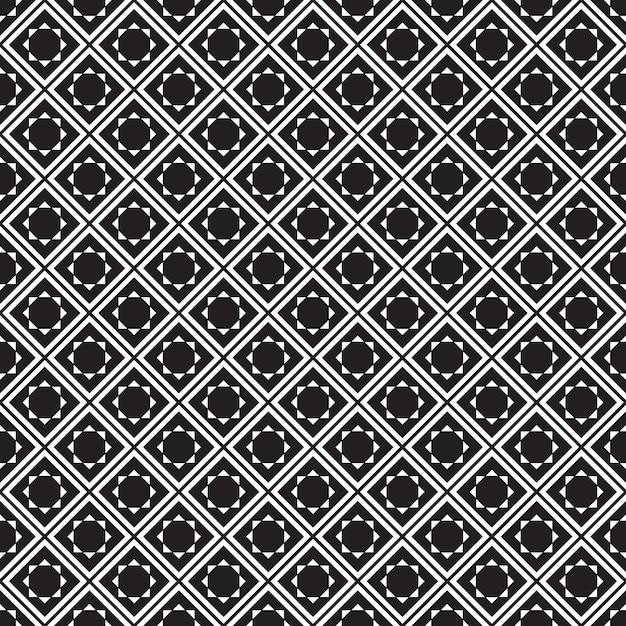 Naadloos geometrisch patroon. zwarte en witte achtergrond. Premium Vector