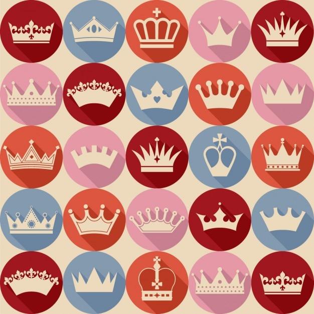 Naadloos kronen patroon Gratis Vector