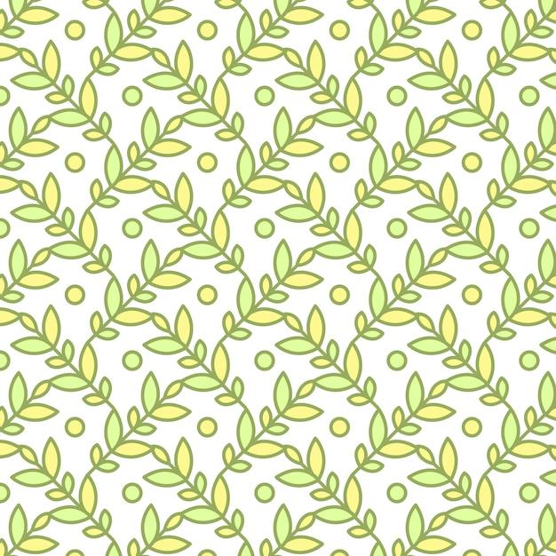 Naadloos patroon, achtergrond met hand getrokken leuke insecten, bloemen, bladeren Gratis Vector