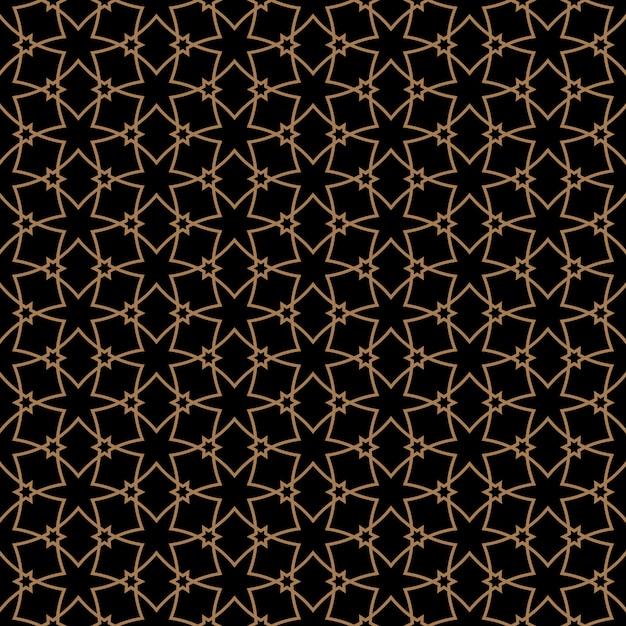 Naadloos patroon in arabische stijl met sterren Premium Vector