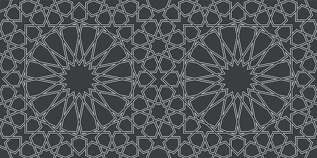 Naadloos patroon in authentieke arabische stijl Premium Vector