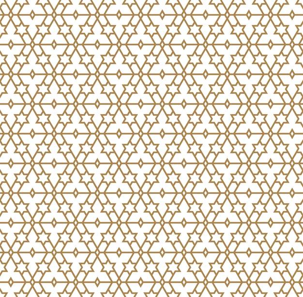 Naadloos patroon in gouden gemiddelde lijnen. Premium Vector