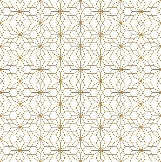 Naadloos patroon in japanse stijlkumiko Premium Vector