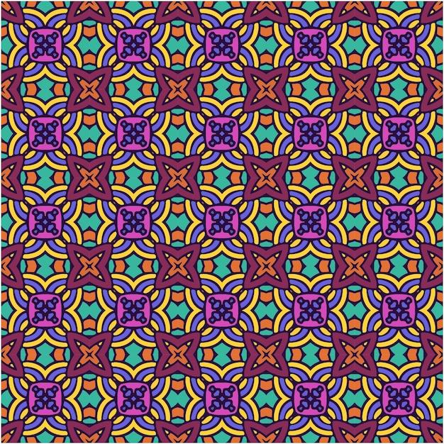 Naadloos patroon met abstracte stijl Premium Vector