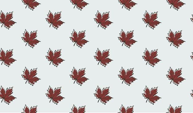 Naadloos patroon met de bladeren van de de herfstesdoorn Premium Vector