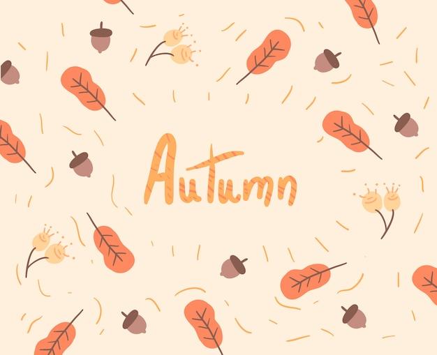 Naadloos patroon met de herfstbladeren. herfst illustratie Premium Vector