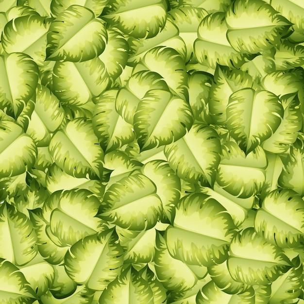 Naadloos patroon met groene bladeren Gratis Vector