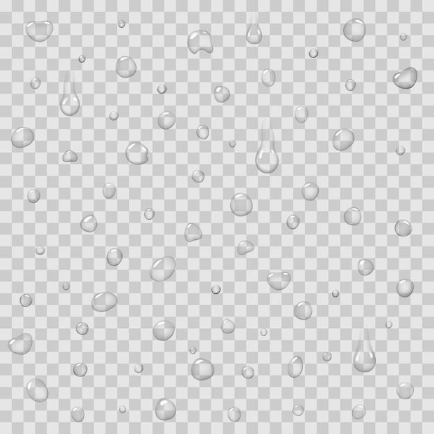 Naadloos patroon met regendalingen geïsoleerde vector Premium Vector