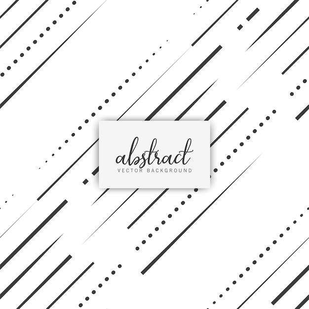 Naadloos patroon met zwarte lijnen Gratis Vector