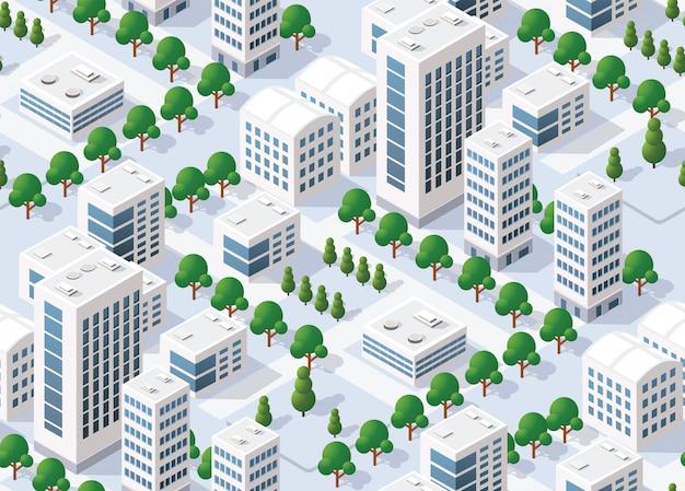 Naadloos patroon stedelijk plan Premium Vector