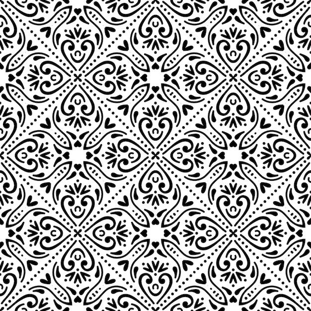 Naadloos patroon. vintage decoratieve elementen Gratis Vector