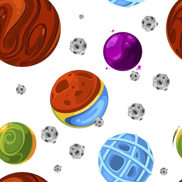 Naadloos ruimtepatroon. vector ontwerp behang kleur abstracte achtergrond illustratie Premium Vector