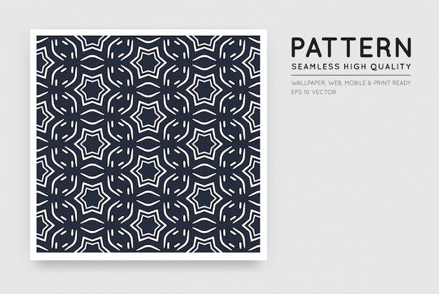 Naadloos vector arabisch stijl abstract patroon Premium Vector