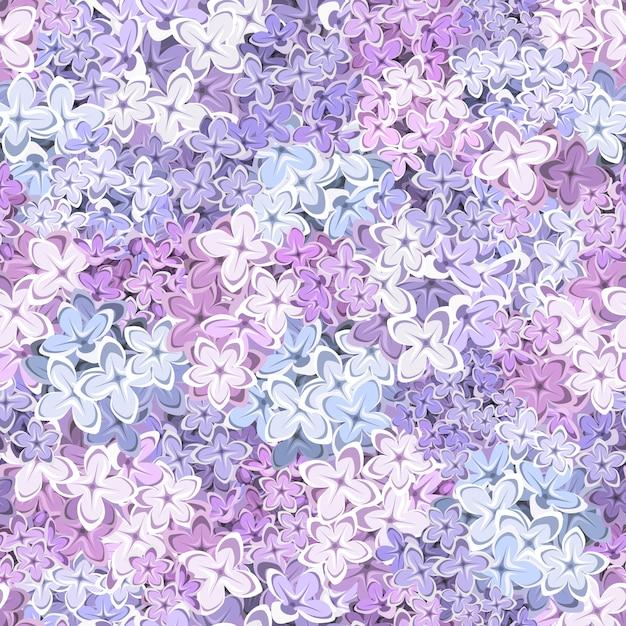 Naadloze achtergrond met lila bloemen. illustratie. Premium Vector
