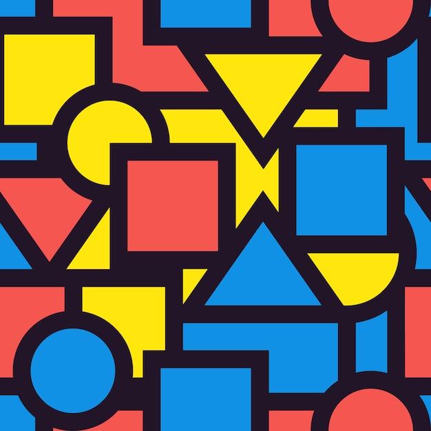 Naadloze achtergrond patroon geometrische afbeelding. illustreren. Premium Vector