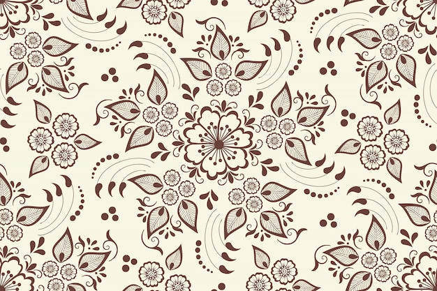 Naadloze bloemmotief element in arabische stijl. arabesk patroon. oost-etnische sieraad. Gratis Vector