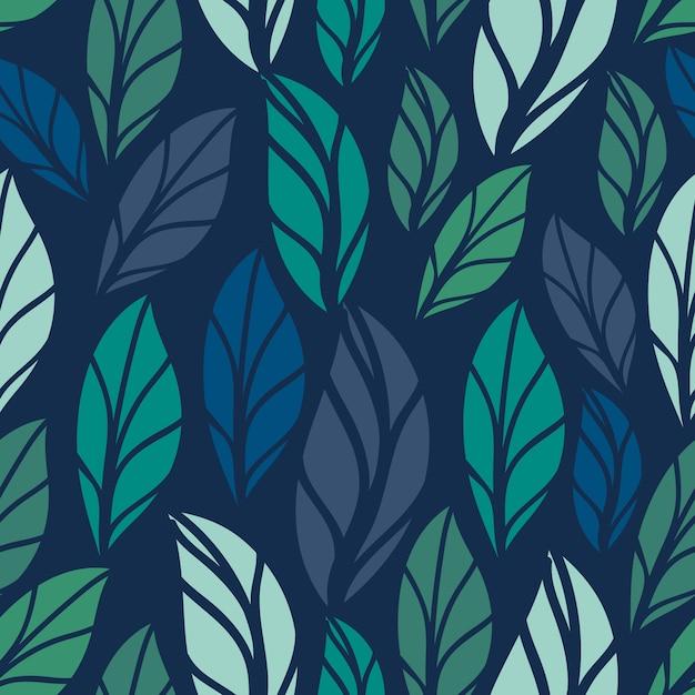 Naadloze bloemmotief. gebladerte naadloos patroonontwerp met pastelkleur. tropisch bladerenpatroon Premium Vector