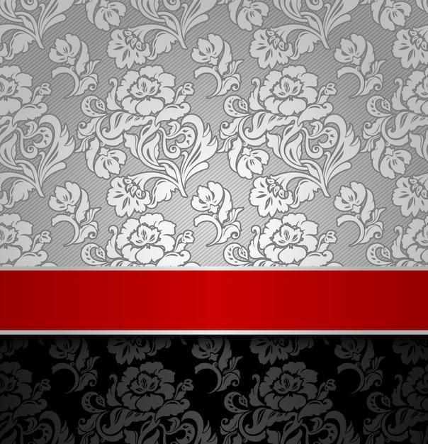 Naadloze decoratieve achtergrond Premium Vector