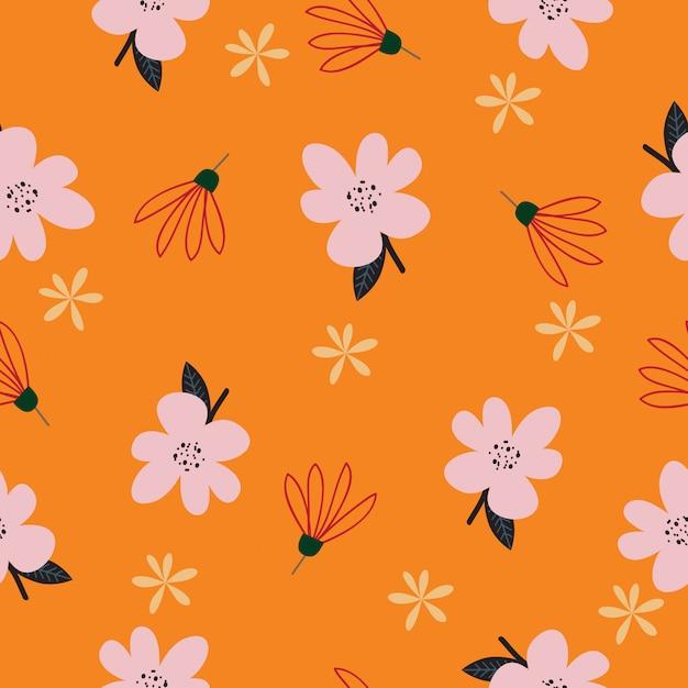 Naadloze kleurrijke tropische bloemenpatroonachtergrond Premium Vector