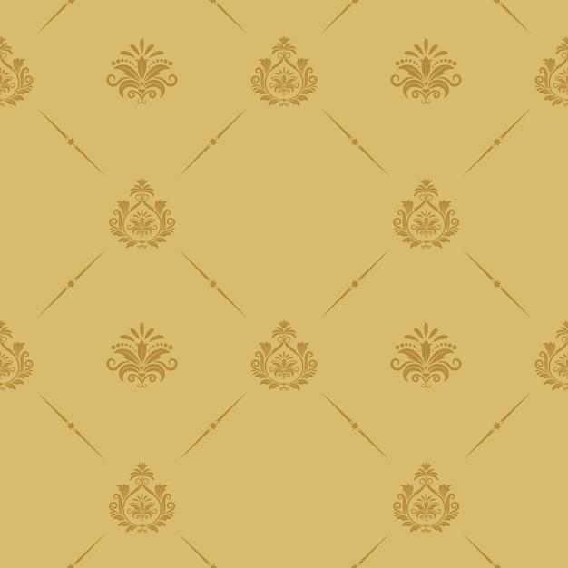 Naadloze patroon barokke stijl. retro vintage decor als achtergrond. Gratis Vector