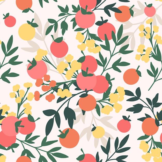 Naadloze patroon met appels Premium Vector