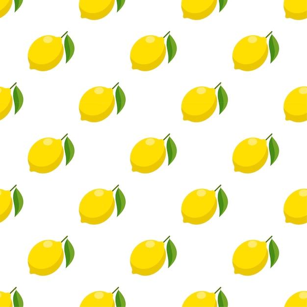 Naadloze patroon platte citroen Premium Vector