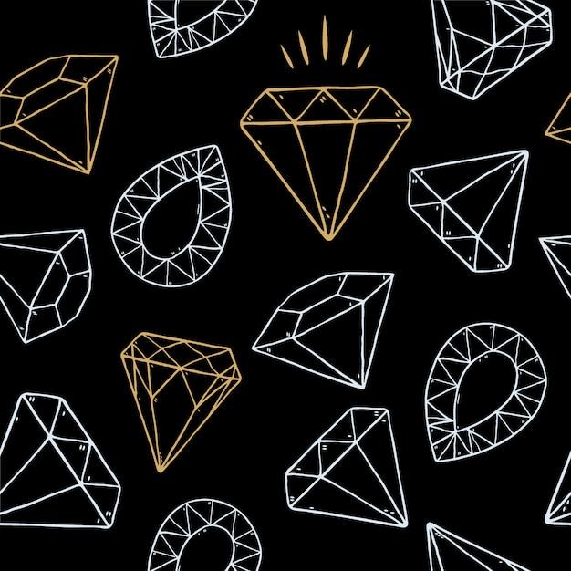 Naadloze patroon van diamant, Premium Vector