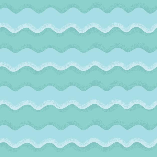 Naadloze patroon van golven Premium Vector