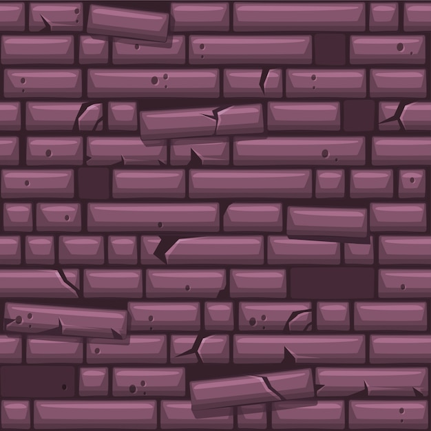 Naadloze textuur paarse oude stenen muur te plaatsen Premium Vector