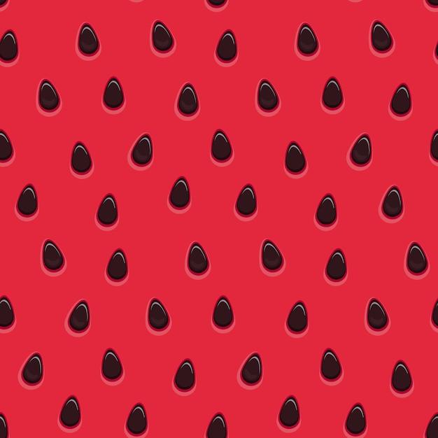 Naadloze watermeloen oppervlaktetextuur Premium Vector