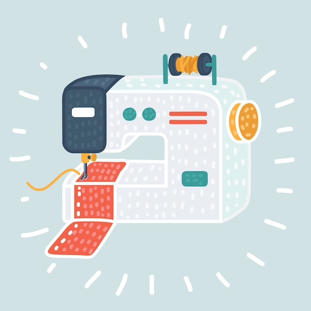 Naaimachine pictogram. illustratie van naaimachine pictogram voor web Premium Vector