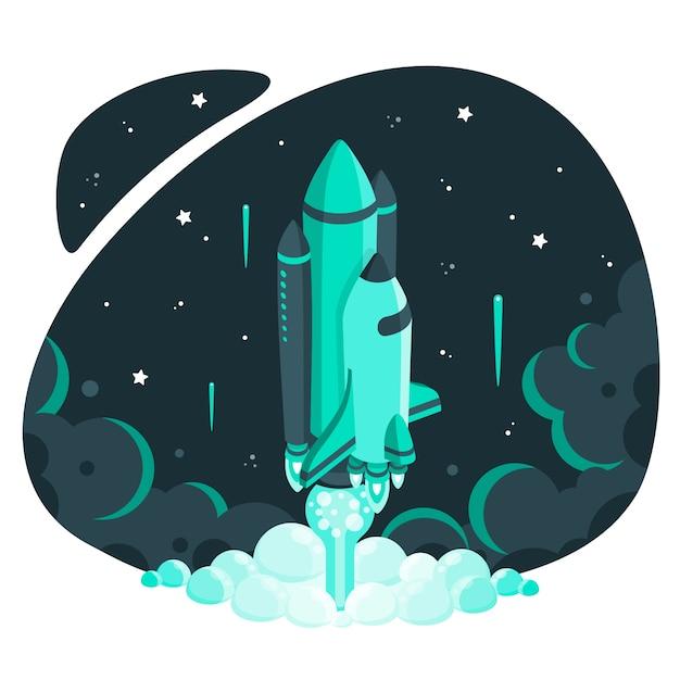 Naar de sterren concept illustratie Gratis Vector