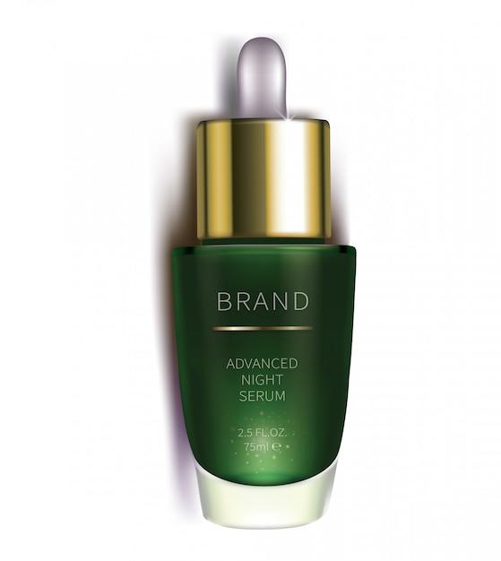 Nacht cosmetisch serum voor gezichtsverzorging Gratis Vector