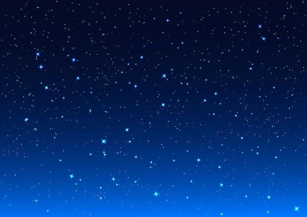 Nacht hemelachtergrond Premium Vector