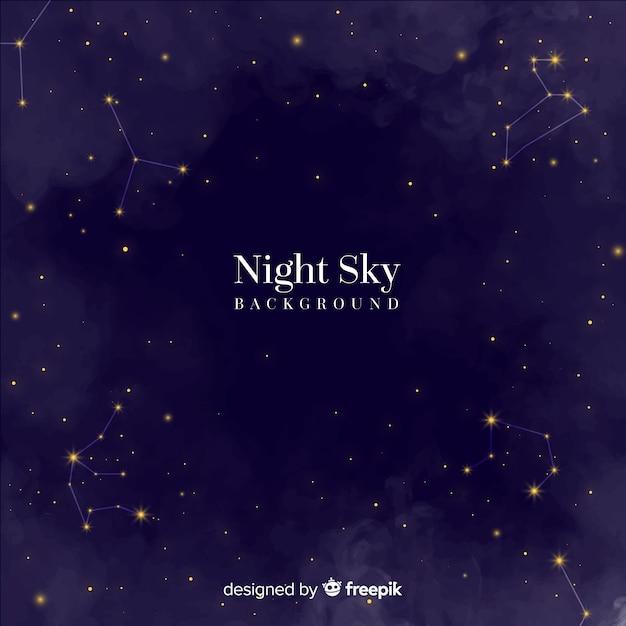 Nacht hemelachtergrond Gratis Vector