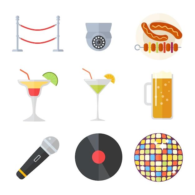 Nachtclub vectorillustratie. Premium Vector