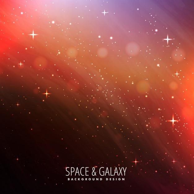 Nachtelijke hemel universe achtergrond Gratis Vector