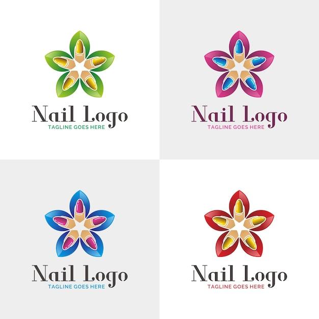 Nail Salon Logo Sjabloon Vector Premium Download