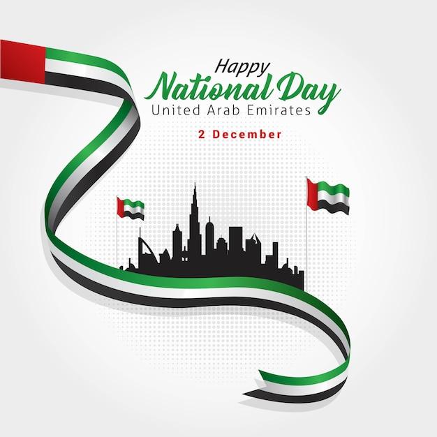 Nationale dag van de verenigde arabische emiraten Premium Vector