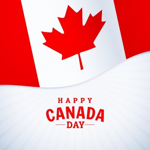 Nationale feestdag gelukkige canada dag groet Gratis Vector