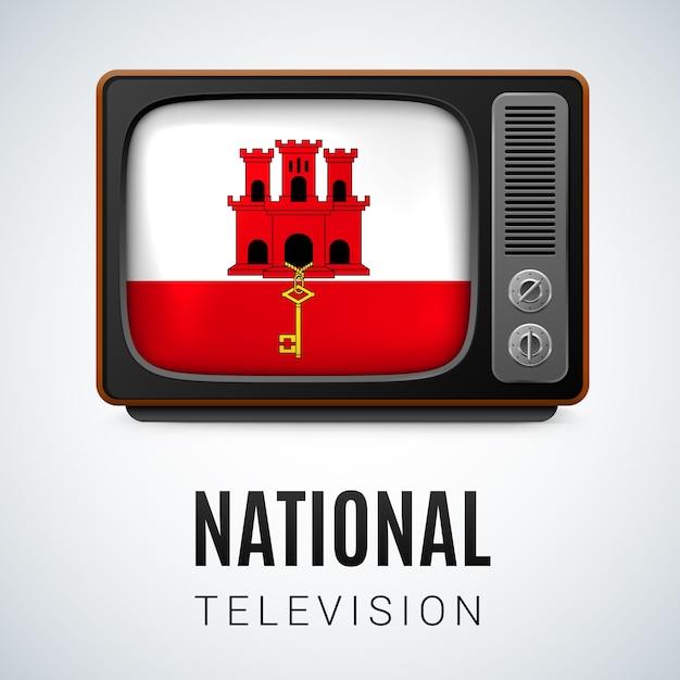 Nationale televisie Premium Vector