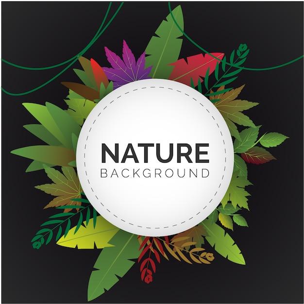 Natuur achtergrond ontwerp Gratis Vector
