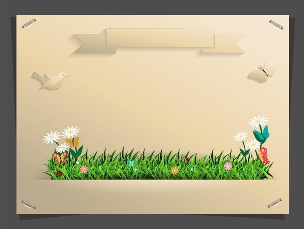 Natuur banner idee concept, vectorillustratie Premium Vector